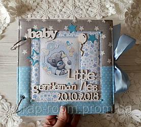 Альбом для мальчика, первый альбом, фотоальбом 21 на 21 см, альбом ручной работы, фотоальбом.