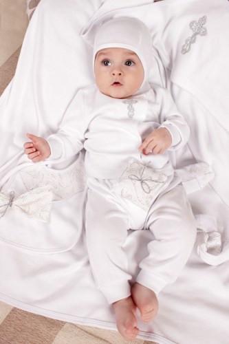 Крестильный набор для новорожденного из хлопка (без крыжмы) 56