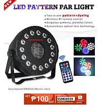 Світлодіодна світломузика для дому,барів,клубів pattern par light led