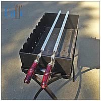Шампур плоский, Шампур 80 см., Шампур с деревянной ручкой , фото 1