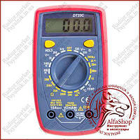 Цифровий мультиметр з підсвічуванням DT33C, термопара, підсвічування, захисний корпус (Оригінал)