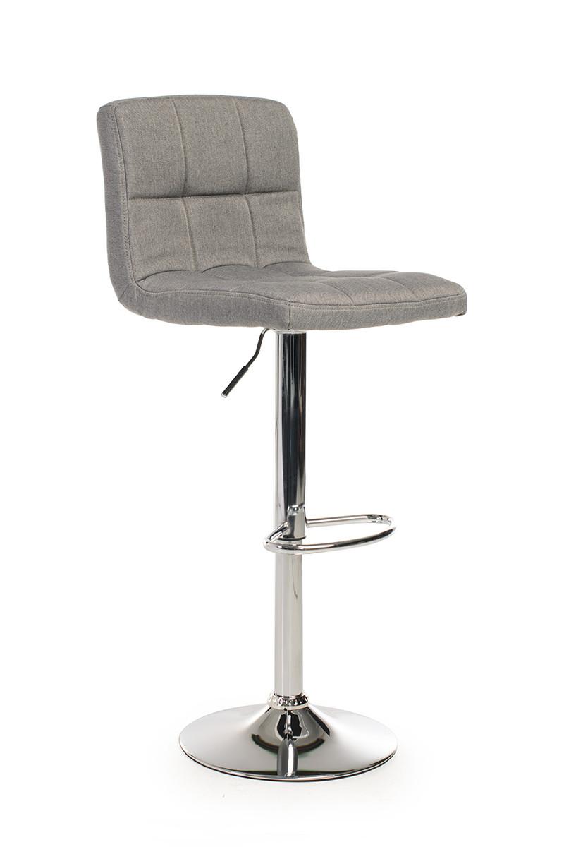 Барный стул B-40 серый(ткань)