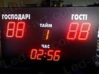 Светодиодное спортивное табло универсальное футбол LED-ART-Sport-1500х2500-1006