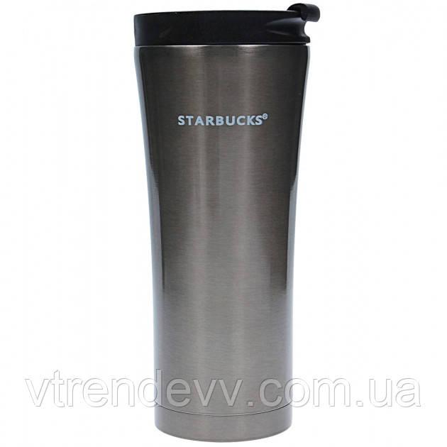 Термокружка тамблер Starbucks Старбакс чашка термос 500 мл серебристая