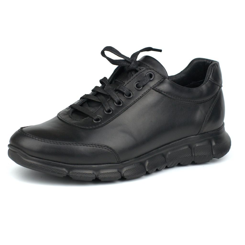 Большой размер мужские кожаные черные кроссовки сникерсы Rosso Avangard Zedan Black Leather BS