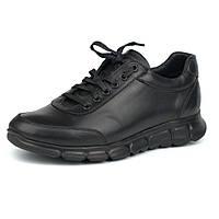 Большой размер мужские кожаные черные кроссовки сникерсы Rosso Avangard Zedan Black Leather BS, фото 1