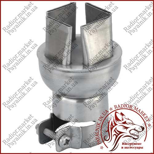 Насадка на термофен квадрат 15*15мм. под винт, высокое качество (13-0567)