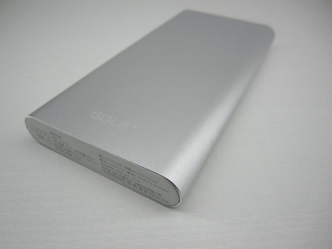 Портативная батарея GOLF Power bank 10000 mah Edge 10 Li-pol Silver