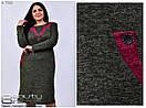 Женское осенне платье Линия 54-60 размер №7560, фото 2