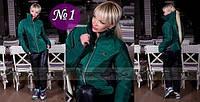 Синтепоновый костюм Шанель, цвет изумруд, размер 42-44 / наличие в Мариуполе