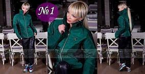 Синтепоновый костюм Шанель, цвет изумруд, размер 42-44 / наличие в Мариуполе 09-017