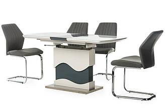 Стол Smart TMT-80 белый+серый (120-150)*75*(60-77)