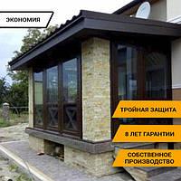 Мягкие окна, система на замках прозрачная пленка з ПВХ тканью