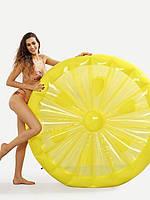 """Пляжный надувной матрас - плот """"Лимон"""", диаметр 143 см   плотик круглый цитрус"""