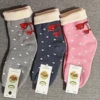 Шкарпетки для дівчаток махрові 7-8 роки з відворотом
