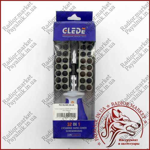Набір викруток GLEDE 20334 32 IN 1 CRV Material