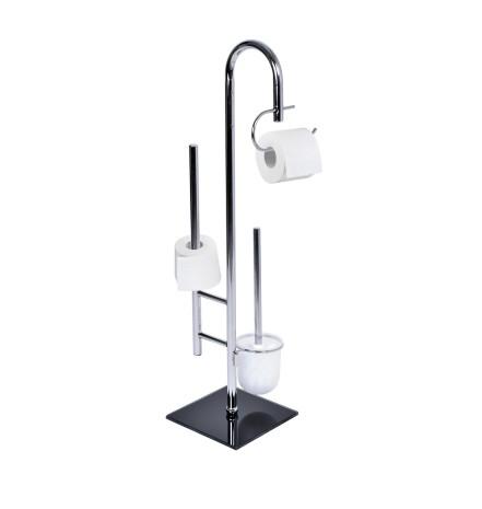 Подставка со встроенным держателем для туалетной бумаги и щеткой для унитаза  Elegant