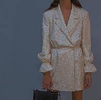 Стильное блестящее платье 05097