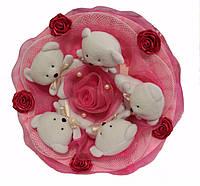 Букет из мишек Малинка