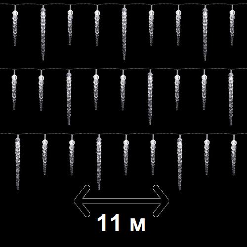 """Гирлянда новогодняя Anna's Collection """"Сосульки"""", 11 м, холодный белый (для дома и улицы)"""