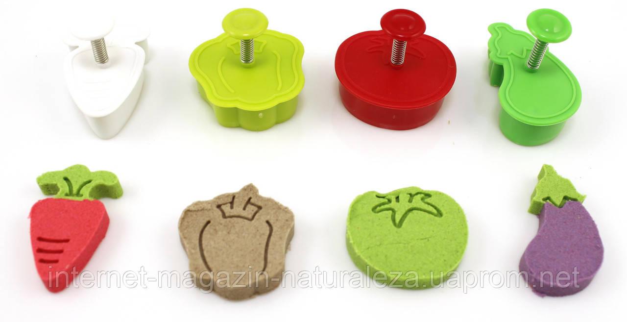 Формочки для кинетического песка Овощи
