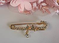 Золотая булавка с украшением, фото 1