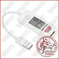 Тестер USB з вимірюванням ємності UNIT UT658B, (амперметр, вольтметр)