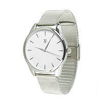 Часы ZIZ Черным по белому серебро - второй ремешок в подарок 5016388