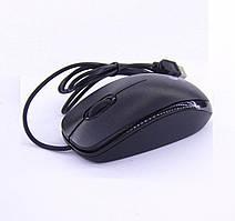 Мышка компьютерная оптическая Logitech USB проводная, черная