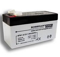 Аккумулятор свинцово-кислотный Bossman Profi 12v 1.3a/20HR (6FM1.3)