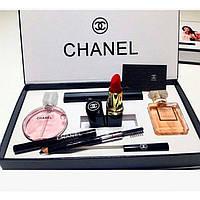 Подарочный набор Chanel 5 в 1, духи + косметика, набор Шанель, фото 1