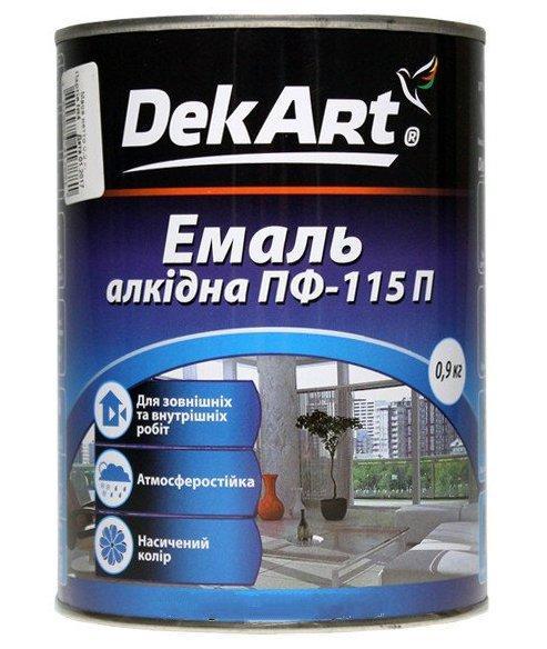 Краска для ульев, эмаль алкидная ПФ-115 TM DekArt. Желтая - 0.9 кг