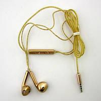 Навушники XLK X3 з мікрофоном і регулятором гучності gold