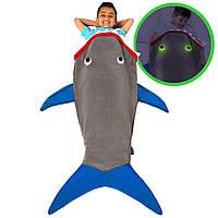 Детский плед-спальник Акула Blankie Tails BT0003G-B