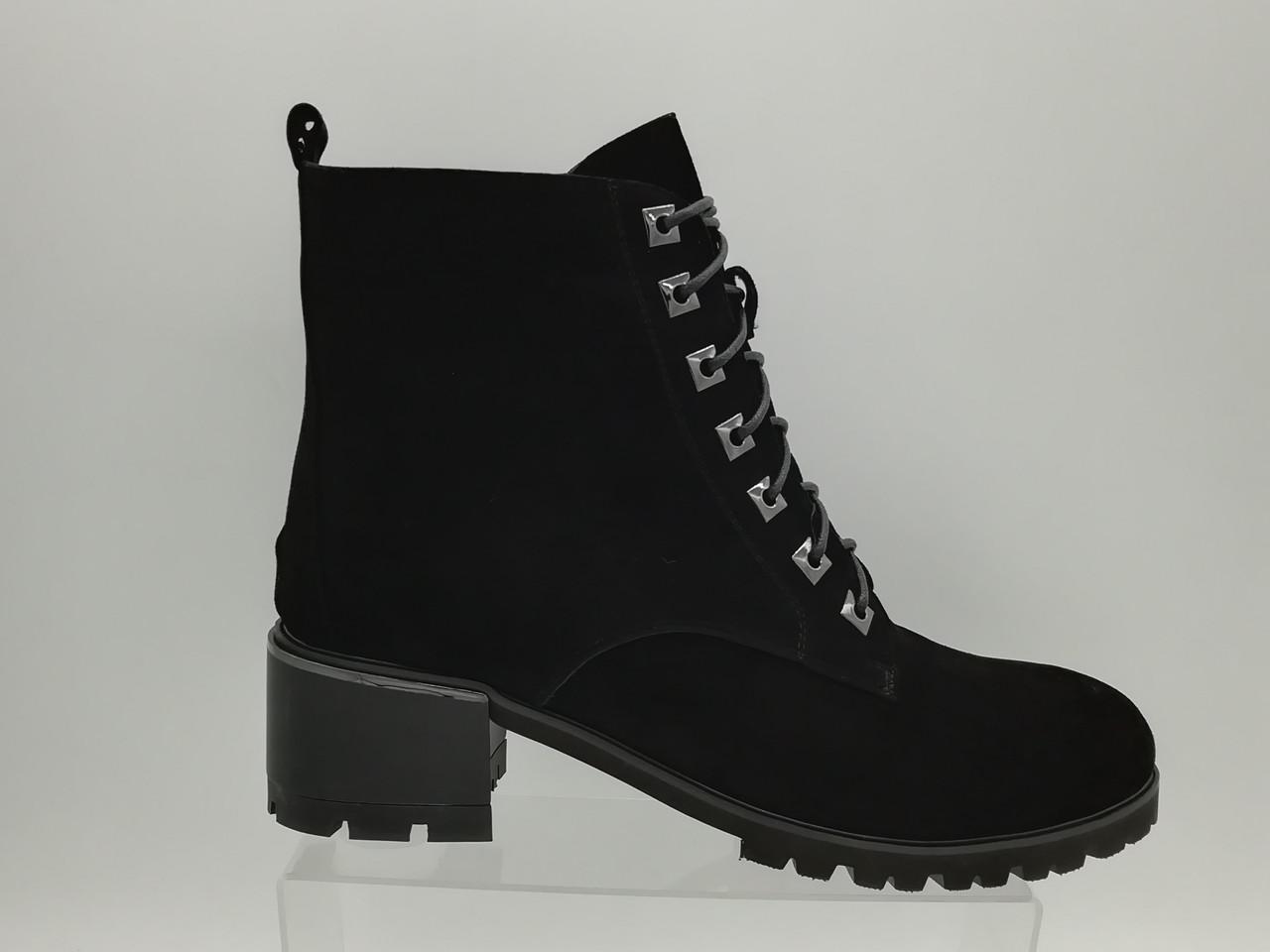 Зимние ботинки на низком каблуке. Большие размеры (41 - 43). Erisses.
