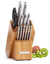 Набор кухонных ножей KitchenAid KKFSS14BO 14 предметов с точилкой для ножей