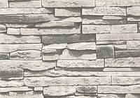 Шпалери вологостійкі мийка Ексклюзив 267-01 сірий камінь, фото 1
