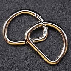 Полукольцо металлическое сварное 25х24х3.5 мм ➜ 100 шт/уп ➜ Півкільце металеве нікель ➜ Фурнитура для сумок
