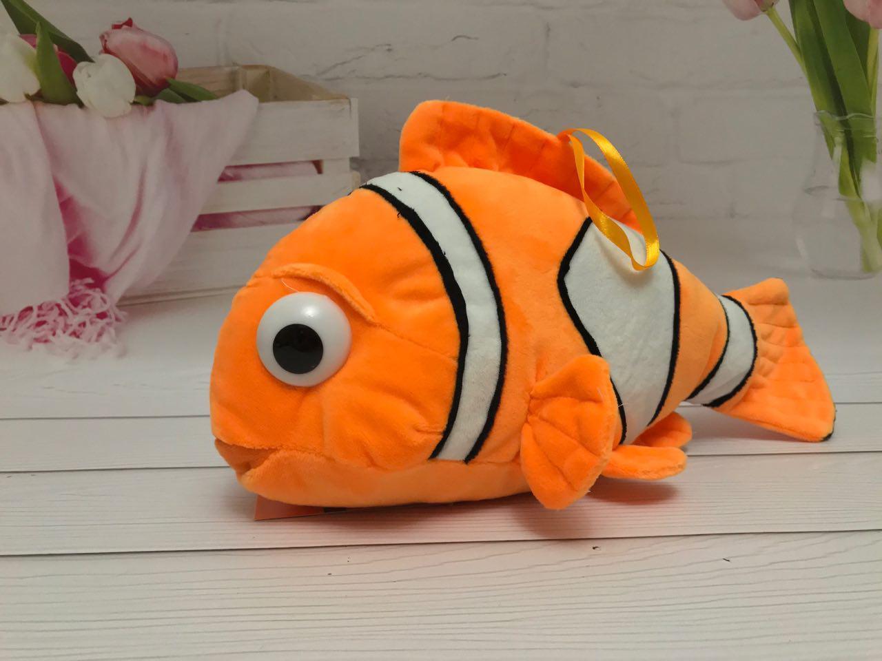 М'яка плюшева іграшка Рибка-клоун 38см