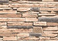 Шпалери вологостійкі мийка Ексклюзив 267-03 бежевий камінь, фото 1
