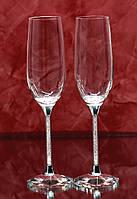 Свадебные бокалы с кристаллами Сваровски, фото 1