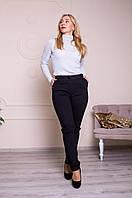 Женские брюки с манжетами черные, фото 1