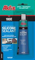 Герметик силиконовый универсальный прозрачный AKFIX 100 E 50 мл