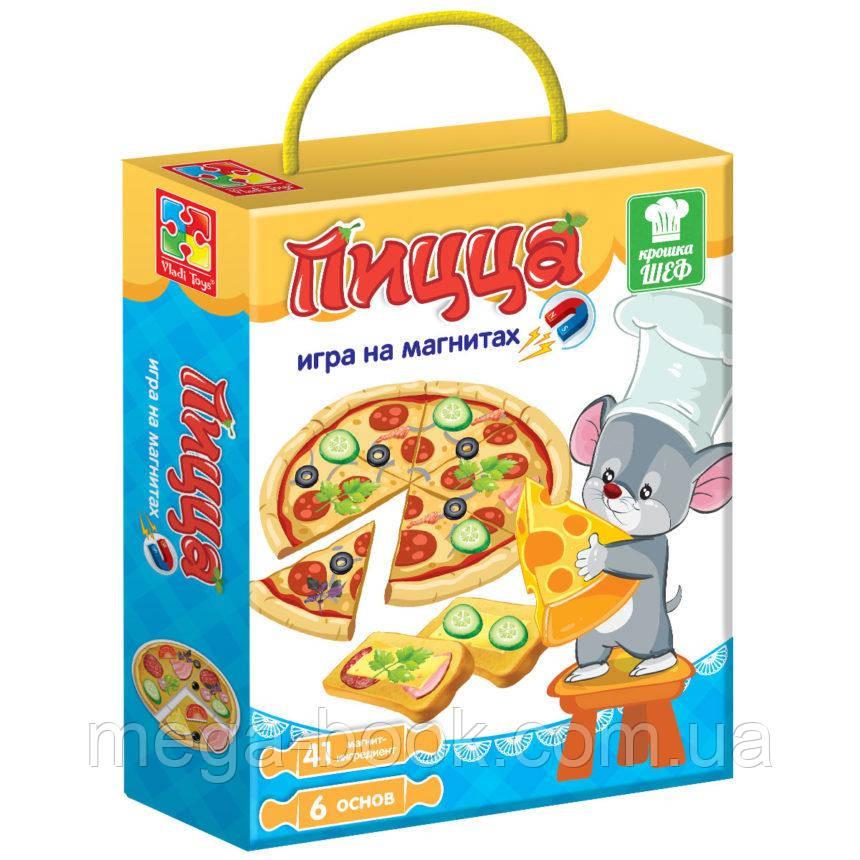 Игра магнитная «Пицца» Vladi Toys
