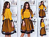 Платье / костюмная ткань, сетка / Украина 15-434
