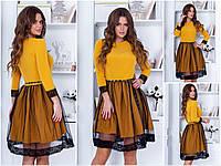 Платье / костюмная ткань, сетка / Украина 15-434, фото 1