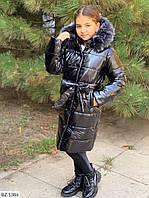 Теплое зимнее пальто в разных цветах (134-152 см)  BZ-5383, фото 1