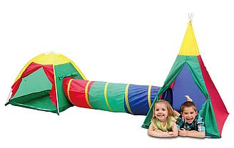 Палатка для детей 3в1 Игло + Туннель + Вигвам