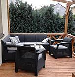 Набор садовой мебели Corfu Relax Set Duo Graphite ( графит ) из искусственного ротанга ( Allibert by Keter ), фото 9