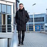 Чоловіча зимова куртка, чорного кольору., фото 5